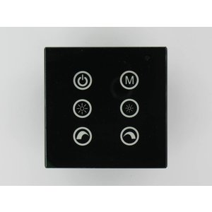 RGB LED Controller Touch Black on the wall V2