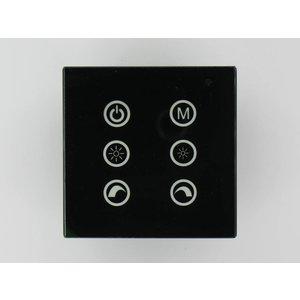 RGB LED Controller Touch-Schwarz an der Wand V2