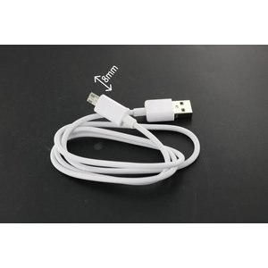 USB 2.0 Micro câble USB 1m avec connecteur 8 mm