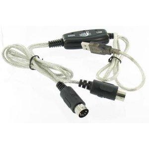 USB - MIDI Keyboard Interface Converter Kabel