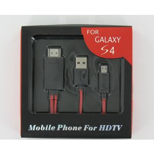 Micro USB MHL naar HDMI Adapter Kabel Inclusief USB Voedingskabel