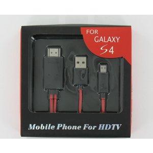 Micro-USB-MHL-zu-HDMI-Adapterkabel Inklusive USB-Netzkabel