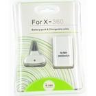 Play & Charge Set avec batterie pour XBOX 360 Blanc