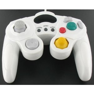 Controller Wired for GameCube and Wii in White