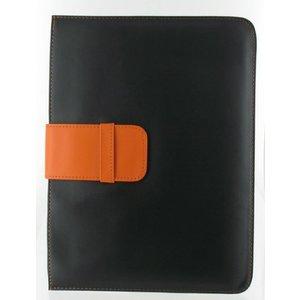 Ledertasche für iPad 1/2/3/4 schwarz orange
