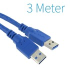 USB 3.0 Male - Male Kabel 3 Meter