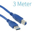 USB 3.0 A - B Printer Cable 3 Meter