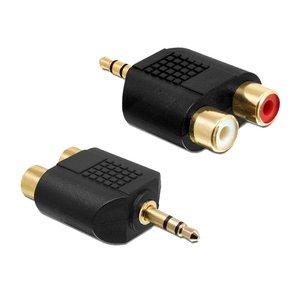 3,5 mm Klinke Stecker auf 2x Cinch-Adapter