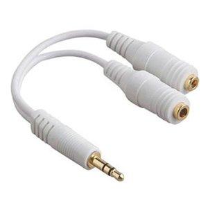 3,5 mm Audio Jack Splitter Weiß
