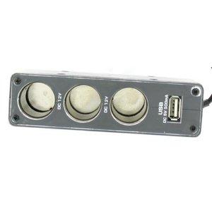 12 volts 3 Port USB de voiture + Splitter