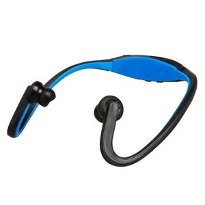 Sport-Kopfhörer mit MP3-Funktion Blau