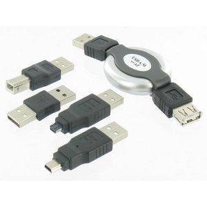 Dolphix 5-pièces Kit Connecteur USB pour PC portable, téléphones intelligents, appareils photo et MP3