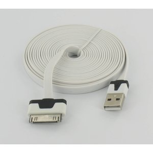 USB Flat Data Cable Ultra Flat 3m for Iphone 3 / S & 4 / S