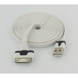 USB Flat Datenkabel Ultra Flat 3m für Iphone 3 / S & 4 / S.