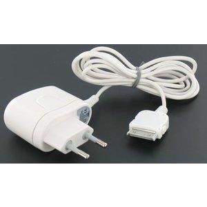 Dolphix AC-Ladegerät für Apple iPhone 3G, 3GS, 4 und 4S / iPod verschiedener Generationen - 30 Pins - Weiß