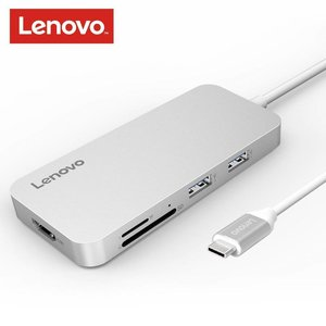 Lenovo Type-C hub met HDMI, 2x USB 3.0, Type-C en TF/SD kaartlezer