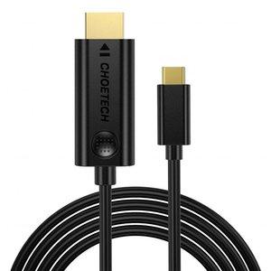 Choetech USB Type-C naar 4K HDMI kabel  - Goud vergulde connectoren - 1.8M - Zwart