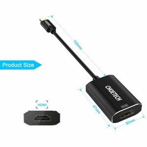 Choetech Adaptateur USB Type-C vers 4K HDMI 2.0 en aluminium - Compatible avec ThunderBolt 3 - Noir