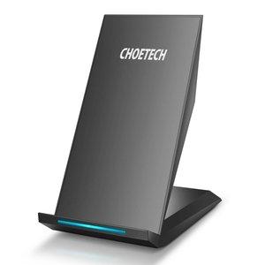 Choetech Kabelloses Schnellladegerät für Smartphones - 2 Spulen - Schnellladetechnologie - 10 W - LED-Anzeige - Schwarz