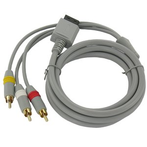 Wii AV cable with 3 RCA plugs