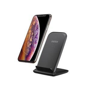 Choetech Support de charge sans fil Qi pour smartphones - 2 bobines - 10W - Noir
