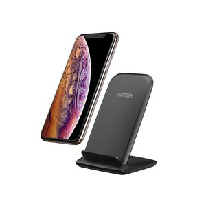 Choetech Wireless Qi Charging Holder for Smartphones - 2 Coils - 10W - Black