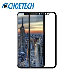 Choetech Premium Tempered Glass voor iPhone X - Zwart