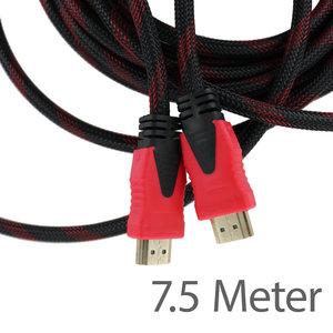 Dolphix HDMI naar HDMI Kabel 7.5 Meter (Male -> Male) - HDMI 1.4 - Geschikt voor 4K @ 60Hz - Zwart