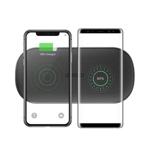 Choetech Draadloze oplader voor het opladen van 2 smartphones - 5 Coils – 20Watt (2x10W)