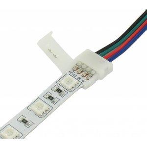Klik Connector met draad voor RGB LED strips Verlengen