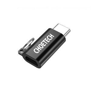 Choetech Adaptateur USB-C vers micro USB de données et de charge - 5V-2.4A - Porte-clés