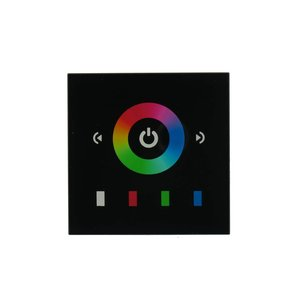 RGB LED Controller Touch Black for the wall