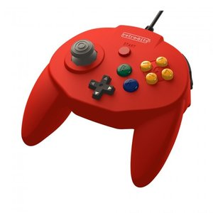 retro-bit Tribute Controller pour Nintendo 64 - filaire - rouge