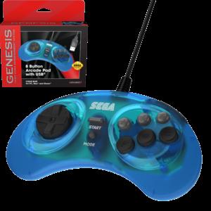 retro-bit 8-Tasten-Arcade-Pad-Controller von SEGA Genesis - USB