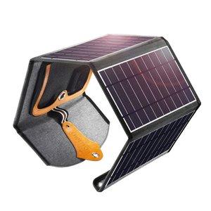 Choetech Chargeur solaire extensible Choetech 4 panneaux - 2x USB - 22W - Résistant à l'eau