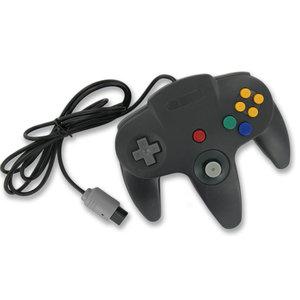 Controller für N64 Schwarz verkabelt
