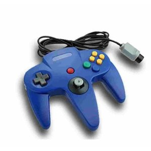 Controller für N64 Blau verkabelt