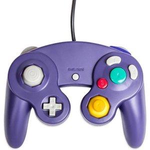 Manette câblée pour la GameCube et la Wii en violet