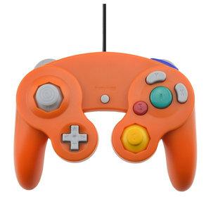 Controller verkabelt für GameCube und Wii in Orange