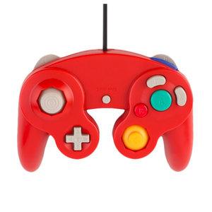 Manette câblée pour la GameCube et la Wii en rouge