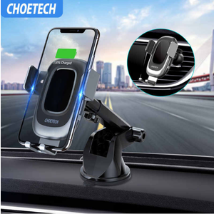 Choetech Wireless car charger - fast charge 15W - Black