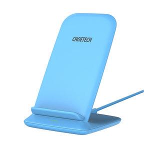 Choetech Drahtloser Qi-Ladehalter für Smartphones - 2 Spulen - 10 W - Blau