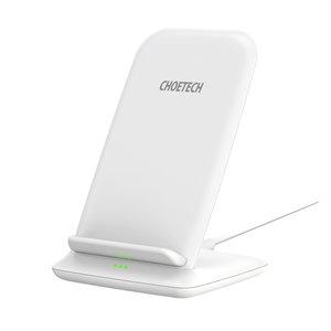 Choetech Support de charge sans fil Qi pour smartphones - 2 bobines - 10W - Blanc