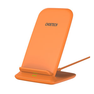 Choetech Support de charge sans fil Qi pour smartphones - 2 bobines - 10W - Orange
