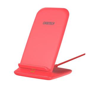 Choetech Support de charge sans fil Qi pour smartphones - 2 bobines - 10W - Rouge