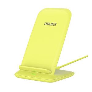 Choetech Support de charge sans fil Qi pour smartphones - 2 bobines - 10W - Jaune