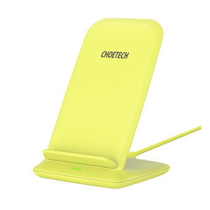 Choetech Wireless Qi Charging Holder for Smartphones - 2 Coils - 10W - Yellow