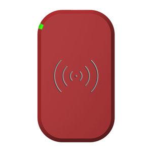 Choetech Chargeur sans fil pour smartphone Qi avec 3 bobines - 10W - Rouge