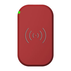 Choetech Wireless Qi Smartphone charger with 3 coils - 10W - Red