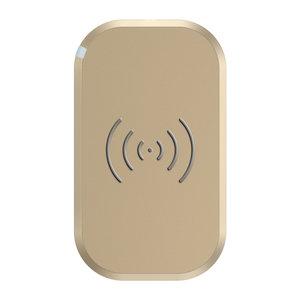 Choetech Chargeur sans fil pour smartphone Qi avec 3 bobines - 10W - Doré